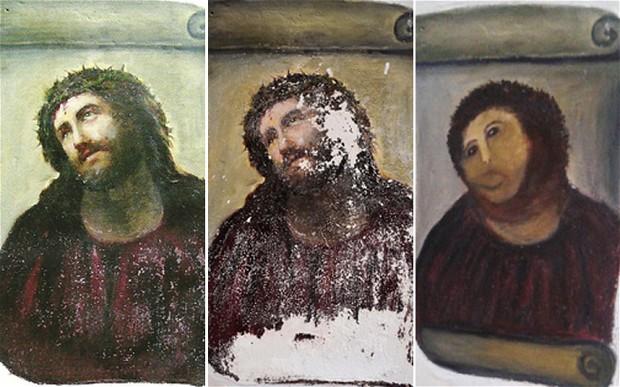Cecilia e il restauro del suo Ecce Homo thumbnail