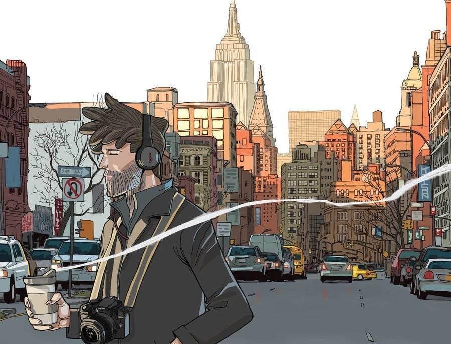 Il suono del mondo a memoria: la New York a colori di Giacomo Bevilacqua thumbnail