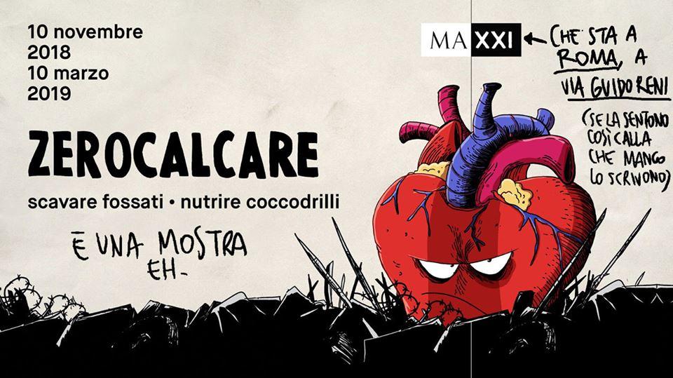 Scavare fossati - Nutrire coccodrilli: arriva al Maxxi la mostra su Zerocalcare thumbnail
