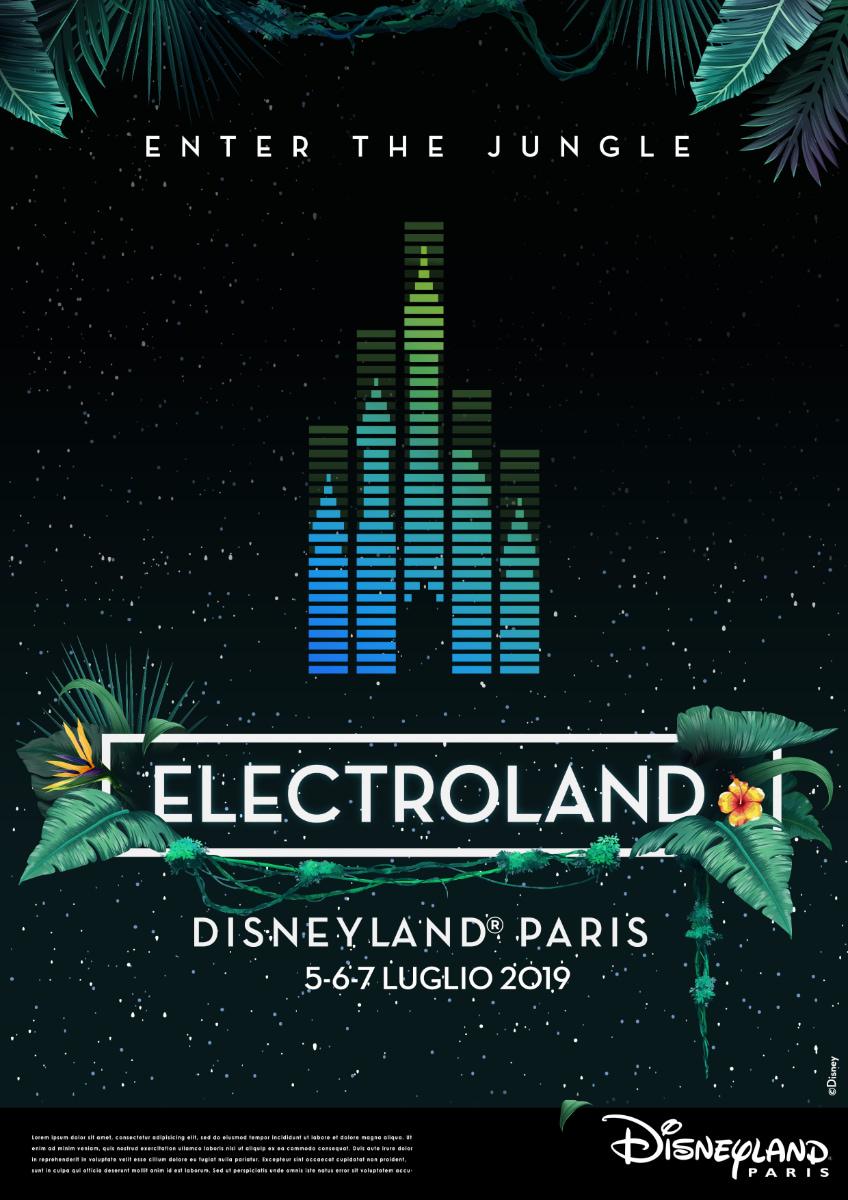 Electroland disneyland paris poster
