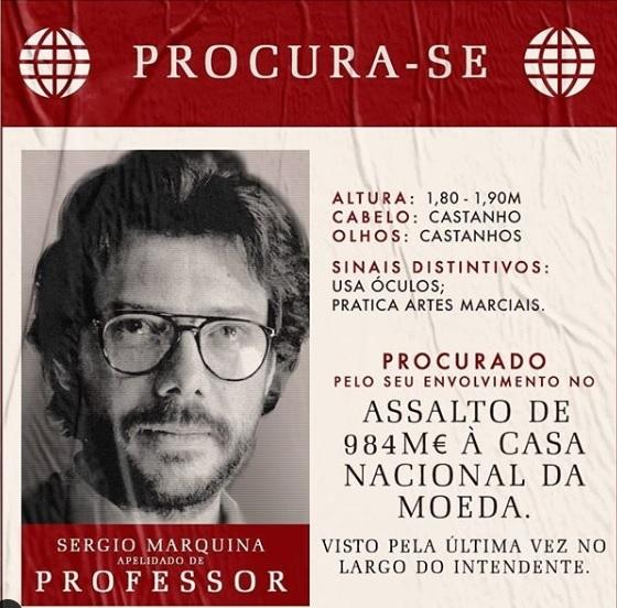 La Casa di Carta 3, wanted poster