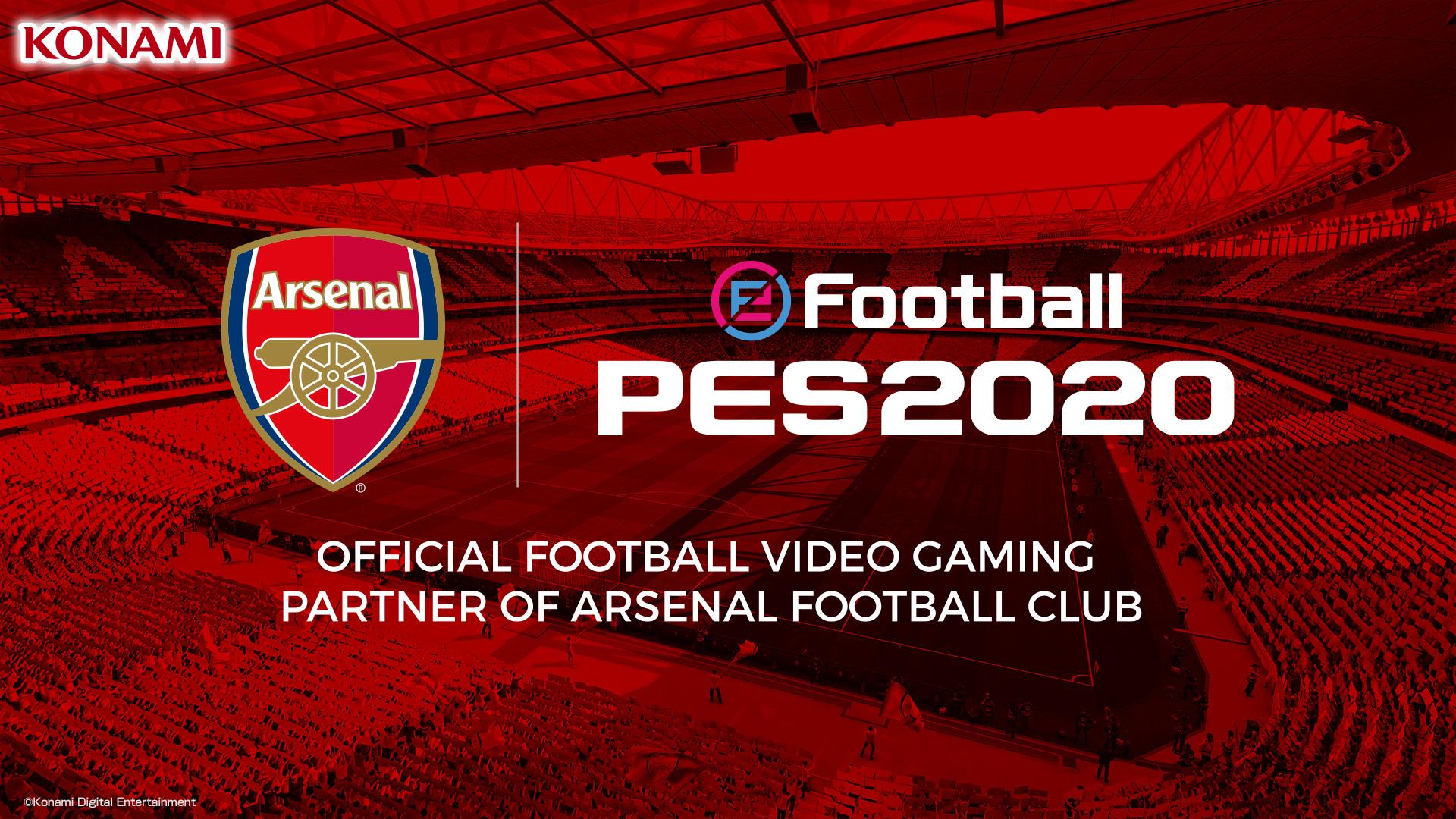 eFootball PES 2020: Konami e Arsenal FC estendono la collaborazione thumbnail