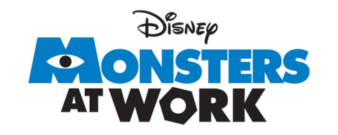 monsters co mike sulley disney+ serie logo at work