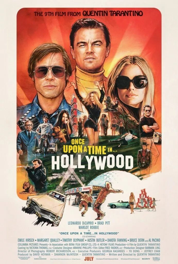 Once Upon a time in hollywood, poster