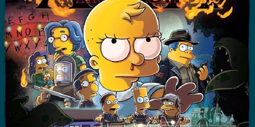 Stranger Things nel poster de La Paura Fa Novanta XXX dei Simpson thumbnail