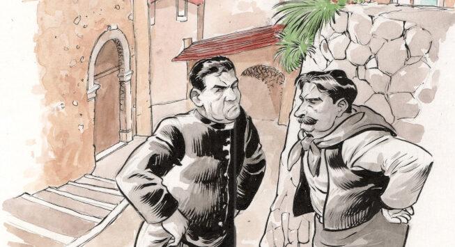 Don Camillo a fumetti, un albo speciale ambientato tra i monti del Trentino thumbnail