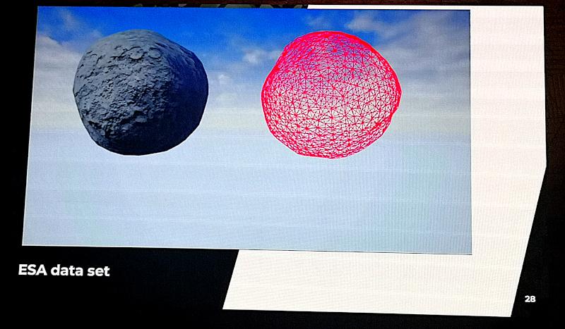 simulazione asteroide AIDA ESA NASA
