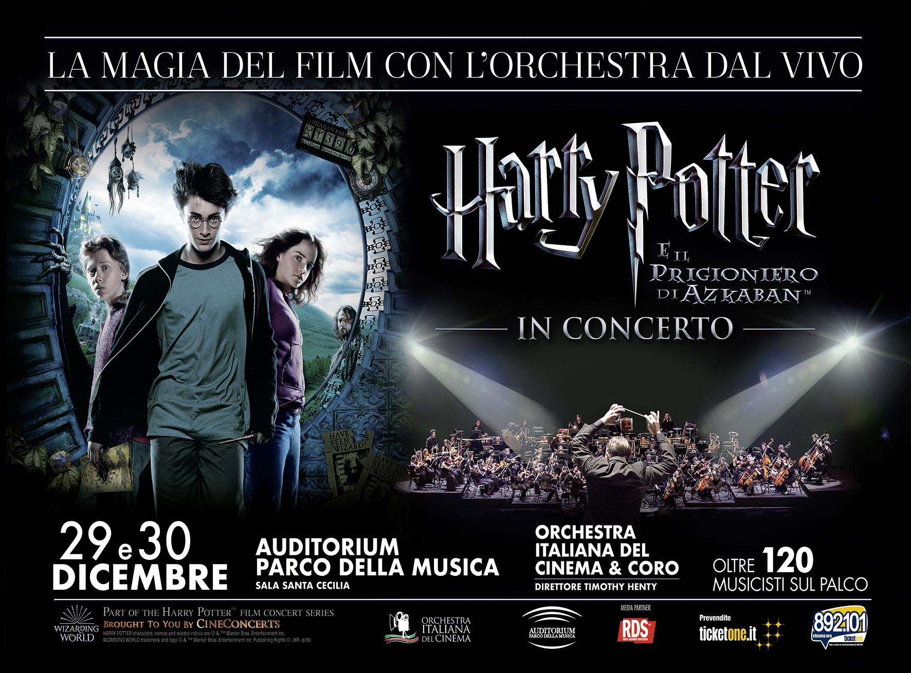 Harry Potter e il Prigioniero di Azkaban in Concerto a Roma thumbnail