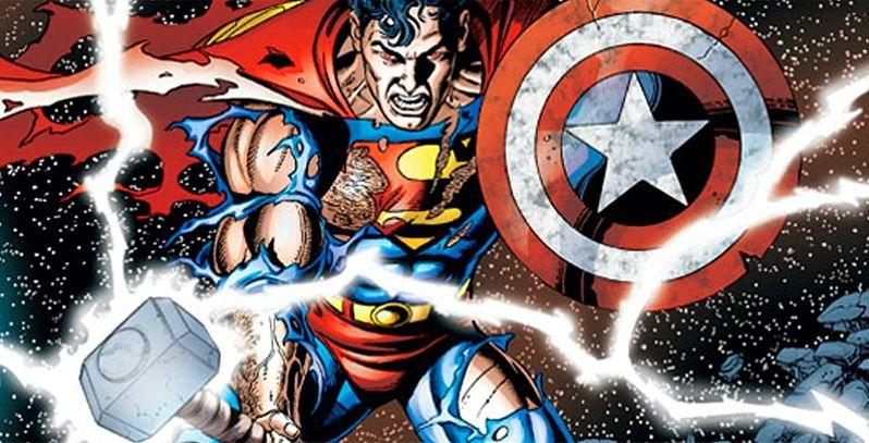 Superman e Wonder Woman nei fumetti Marvel... Con Mjolnir? thumbnail