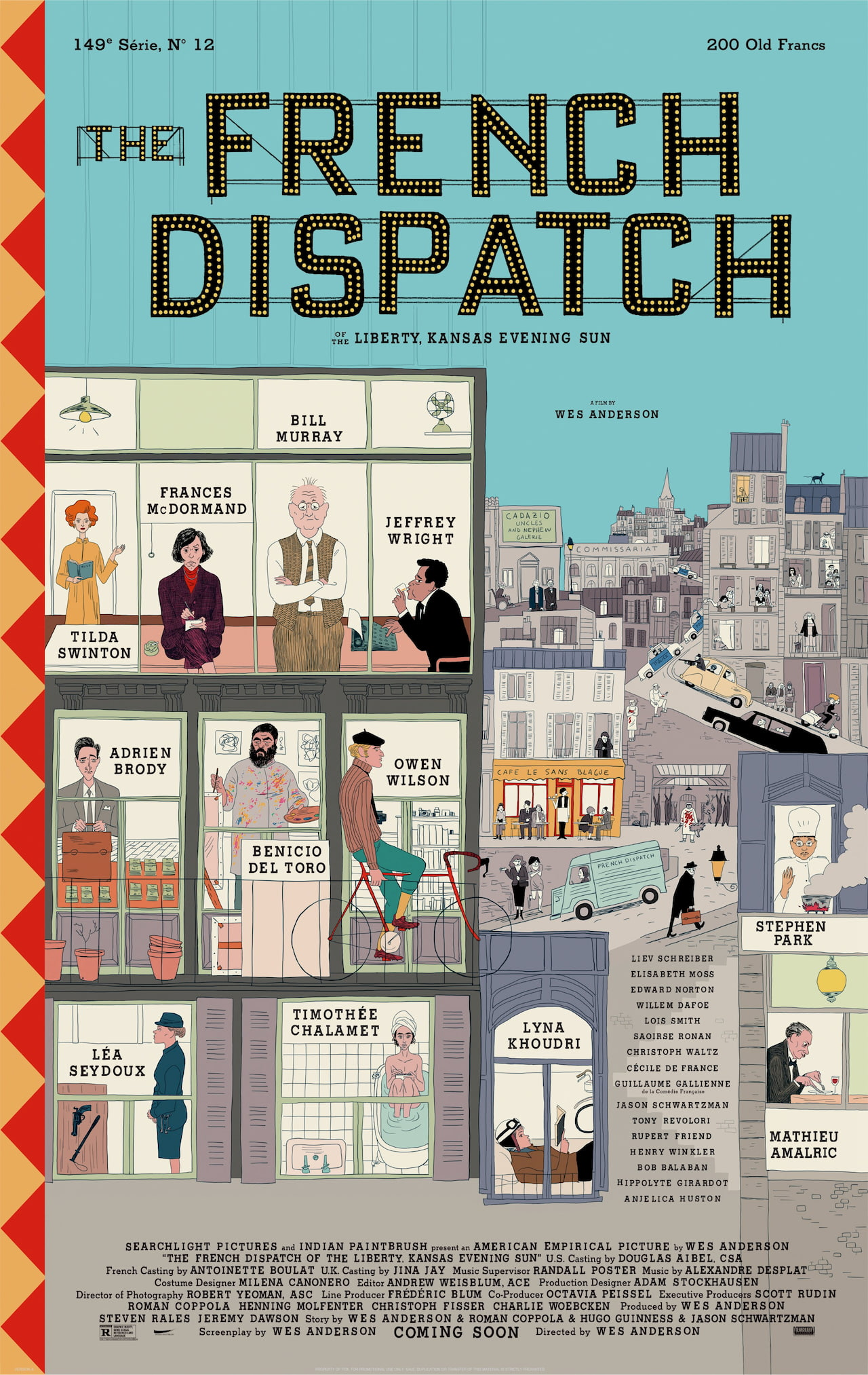 the french dispatch wes anderson primo poster
