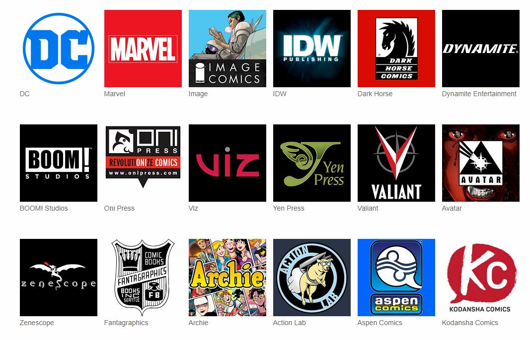 Fumetti Online Digitali Comixology editori
