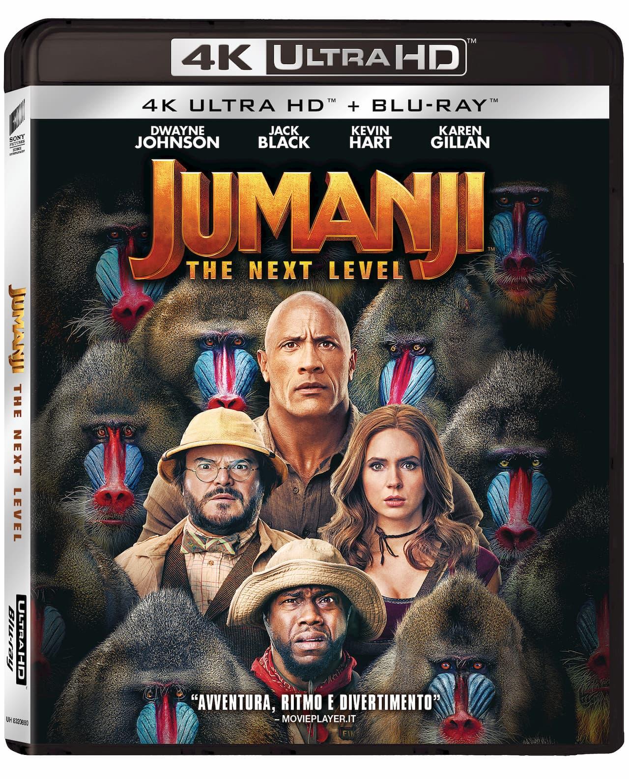 jumanji the next level dvd blu ray 4k uhd
