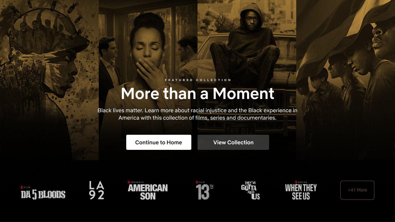 Netflix crea una collezione a tema Black Lives Matter thumbnail