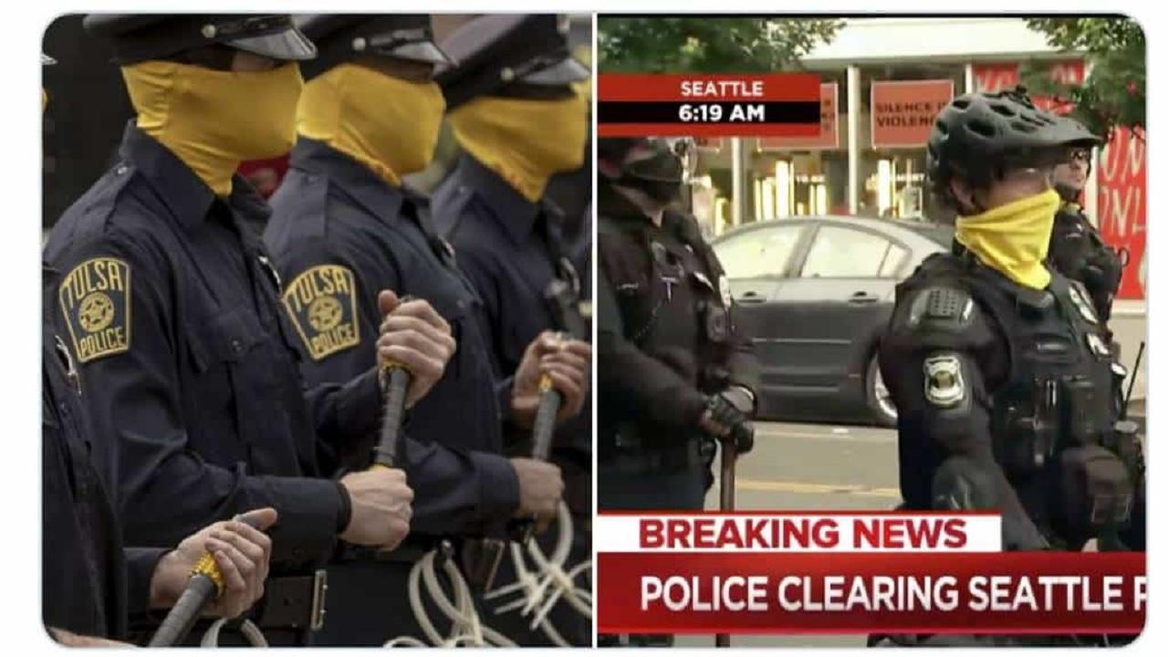 La polizia di Seattle si veste come in Watchmen thumbnail