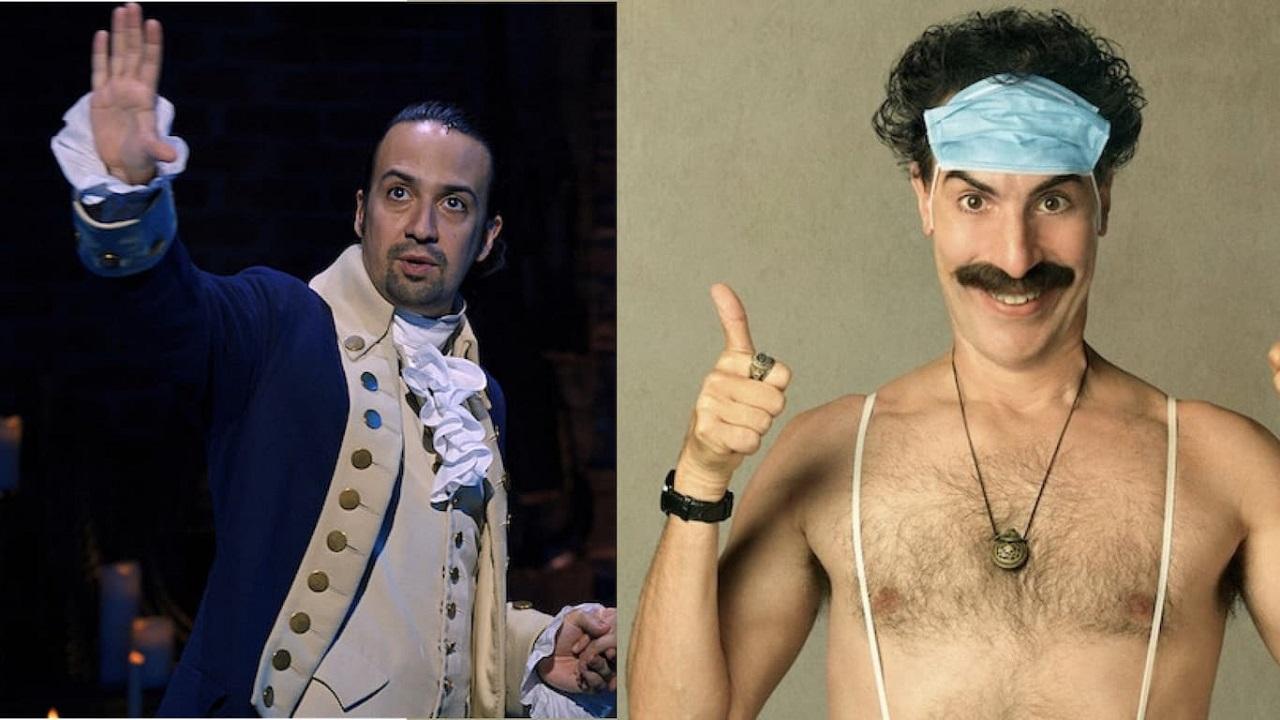 Hamilton e Borat 2 sono i film in streaming di maggior successo del 2020 thumbnail