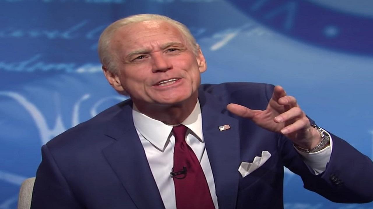 Jim Carrey lascia il testimone di Joe Biden ad Alex Moffat thumbnail