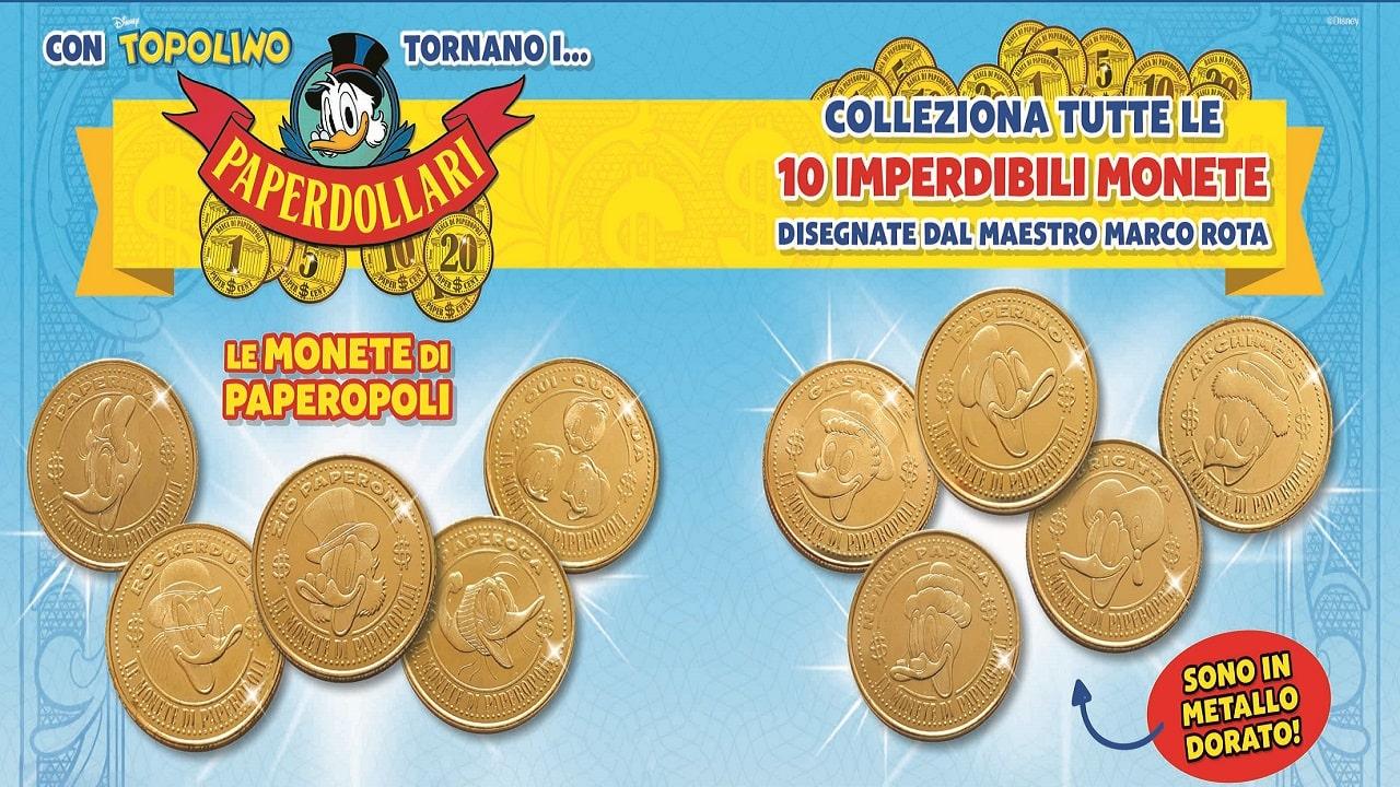 Tornano i Paperdollari, le monete da collezione disegnate da Marco Rota thumbnail