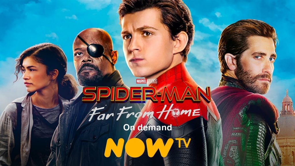 Spiderman Far From Home now tv 2021