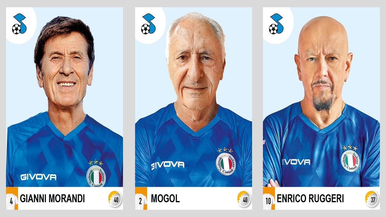 La Nazionale Italiana Cantanti arriva sull'album Calciatori 2021 Panini thumbnail