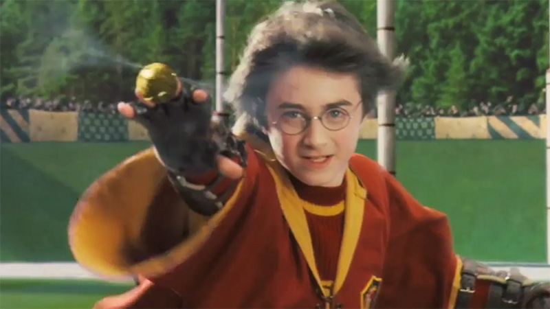 harry potter cattura boccino quidditch