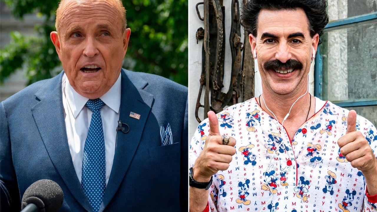 Sacha Baron Cohen svela alcuni aneddoti sulla scena di Rudy Giuliani thumbnail