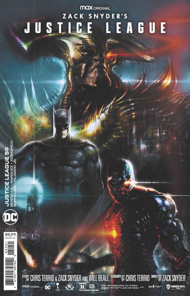Batman Snyder Cut Variant Cover Justice League 59