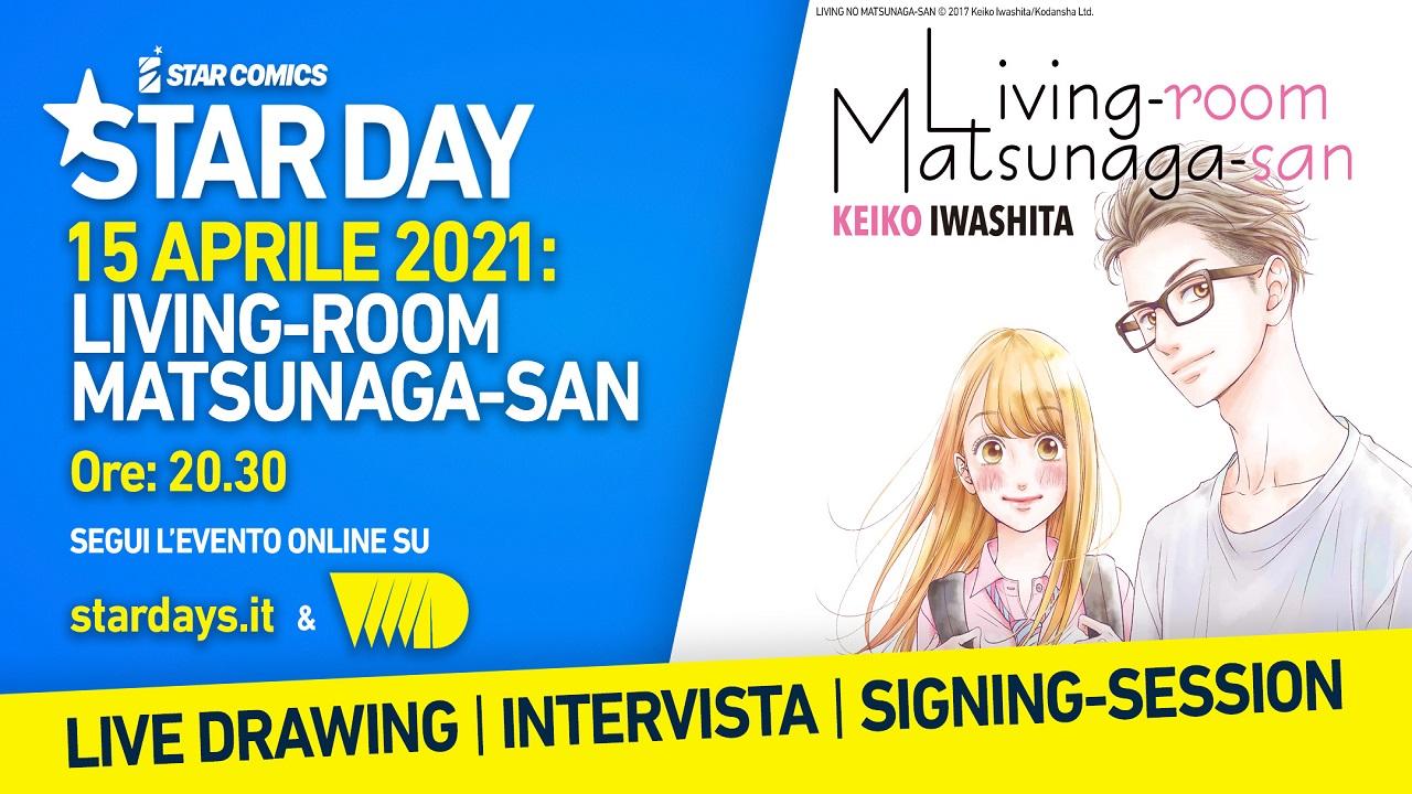 Intervista e live-drawing con l'autrice di Living Room Matsunaga-San durante gli Star Days thumbnail