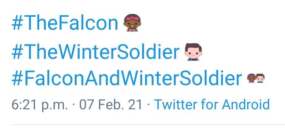 Emoji Falcon Soldato d'Inverno