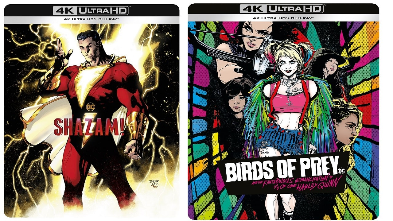Shazam! e Birds of Prey tornano in 4K UHD e Comic Art Steelbook thumbnail