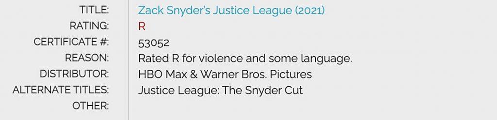Snyder Cut R