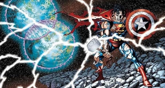 scudo capitan america martello thor superman