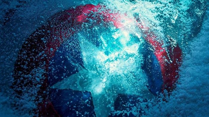 scudo di capitan america congelato