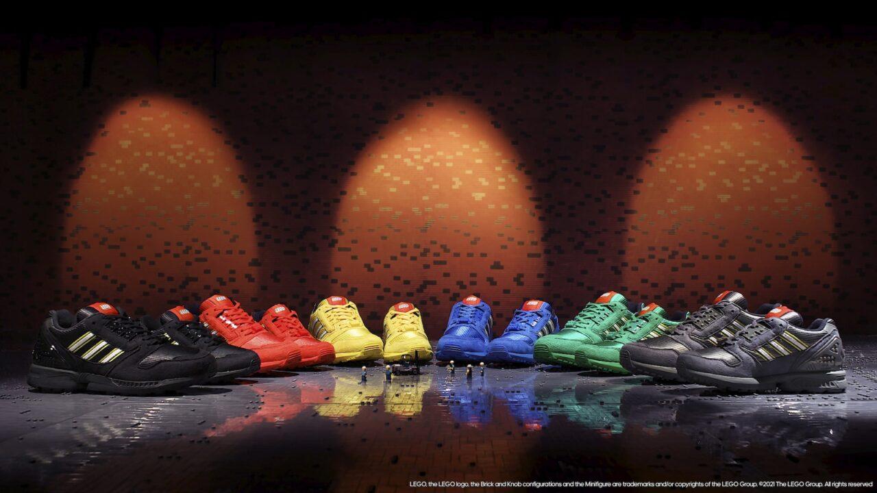 LEGO e Adidas: disponibili le nuovissime sneakers ZX8000 Bricks thumbnail