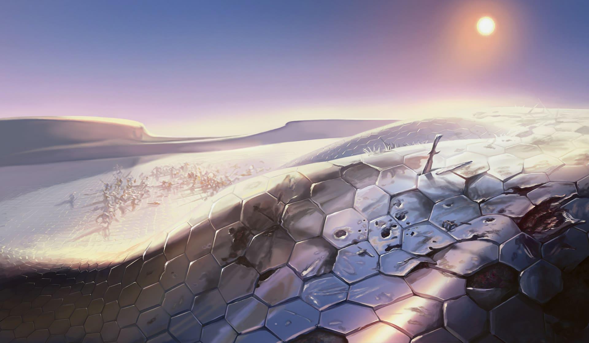 Mirrodin: il Nulla Scintillante come paesaggio e cinque lune di mana thumbnail