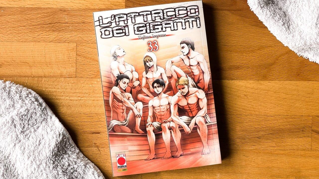 "Panini Comics presenta L'attacco dei Giganti 33 ""Variant Sauna"" thumbnail"