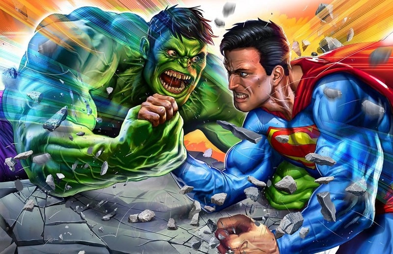 hulk v superman olimpiadi supereroi-min