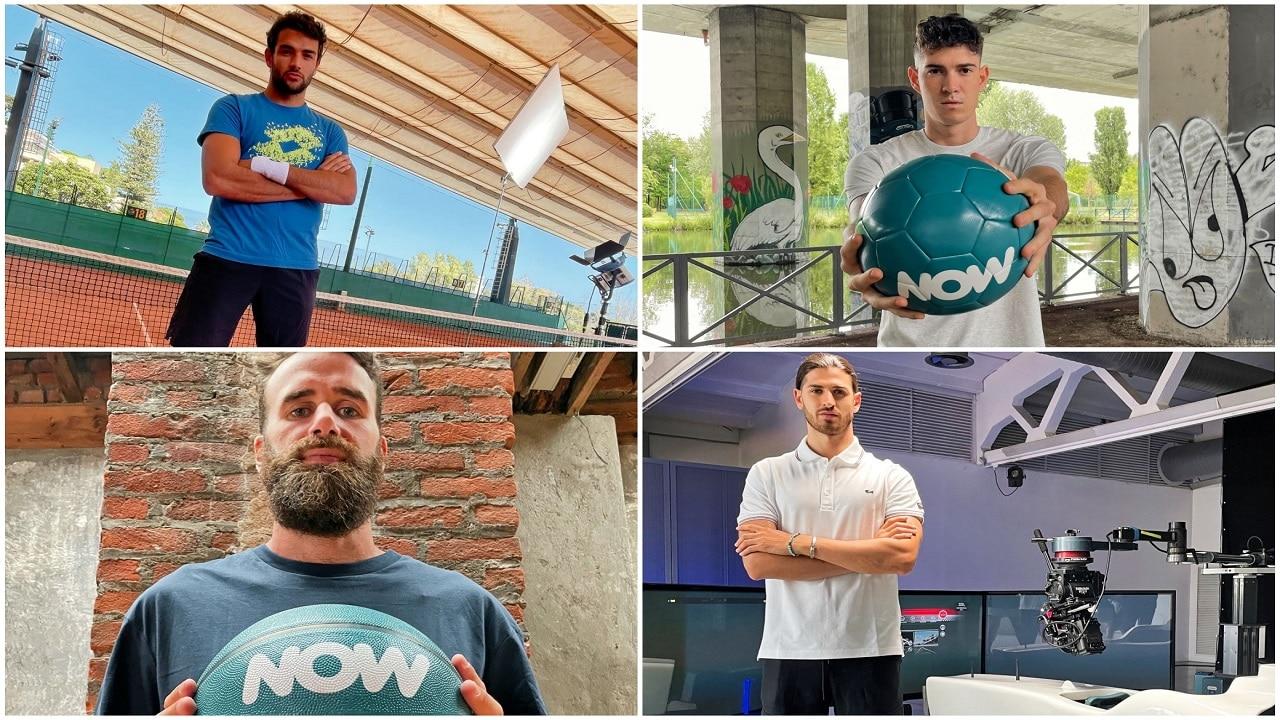 Nuova campagna NOW con protagonisti 4 sportivi d'eccezione thumbnail