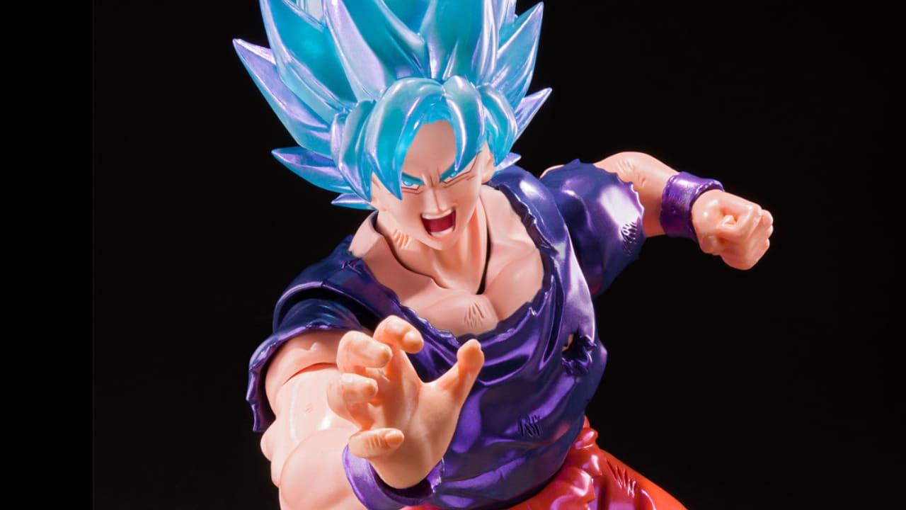 Bandai Dragon Ball: l'action figure di Goku Super Saiyan Blue Kaio-Ken thumbnail
